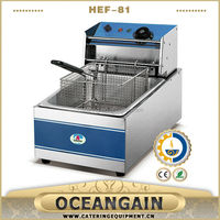 HEF-81 5.5L CE RoHS Stainless Steel Electric Deep Fryer