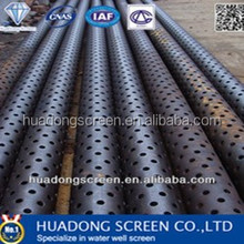 high strength steel perforated drainage pipe perforated metal screen for water filter pipe