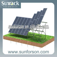 solar panel support racking including ground screw
