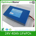 24V 40Ah lifepo4 battery used for backup power