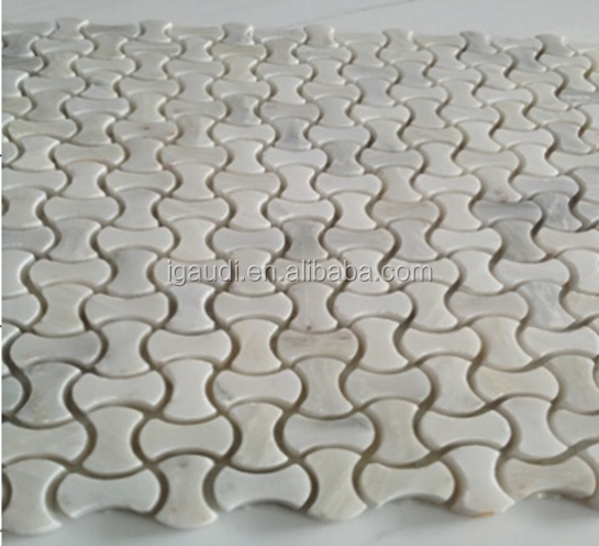 2016 new product irregular white carrara marble prices mosaic tiles