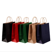 Kraft <strong>paper</strong> color printing high quality green shopping bags shopping malls clothing portable <strong>paper</strong> bags