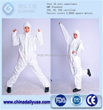 General Purpose Disposable Coveralls with Hood, Elastic Wrists & Ankles Guohong disposable waterproof coverall