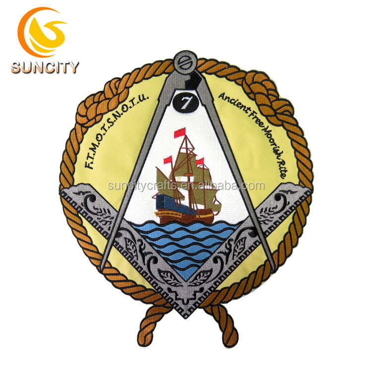 Promotion custom for ancient free moo rich rite design embroidery patch