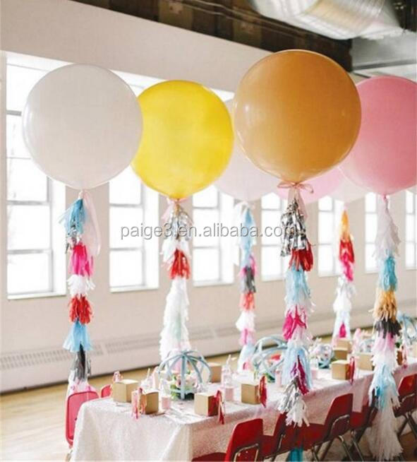 [Partygos] 36inch 90cm Round Latex Balloons Wedding birthday Decoration Inflatable Helium balloon
