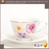Vintage style bone china coffee cup and saucer