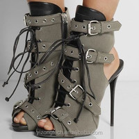 JUSITY Fashion Coppy Leather Peep Toe sex high heel Roman sandals 2015