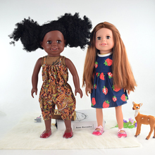 Wholesale hot sell kids toys 18 inch african american girl doll factory
