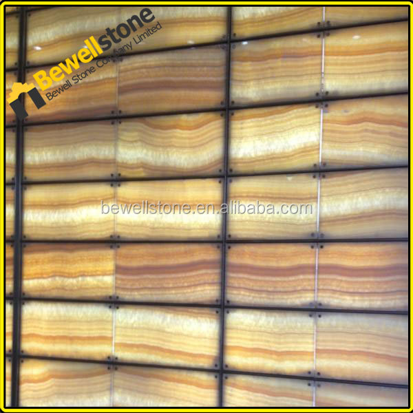 Natural marble 4mm onyx super thin tiles, honey onyx stone thin veneer