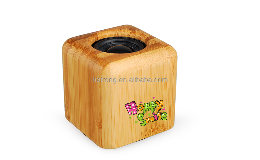 MESDAL cheap high quality electronic cube pocket bamboo mini bluetooth speaker