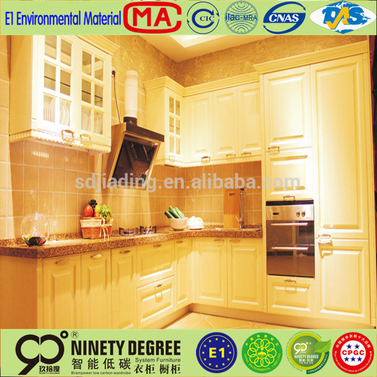China factory price kindle white ash kitchen cabinet