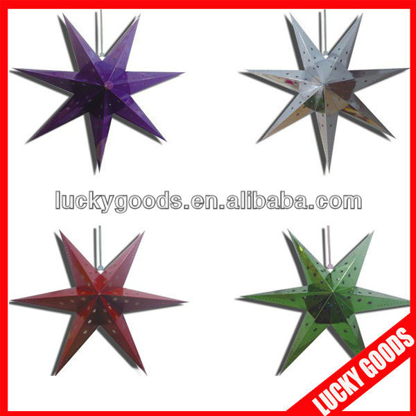 christmas day hanging paper star decoration