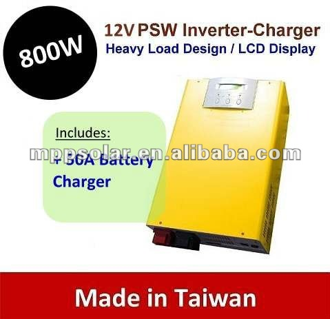 800w surge 1.6kw 50A Pure Sine Wave power inverter charger 12V UPS inverter