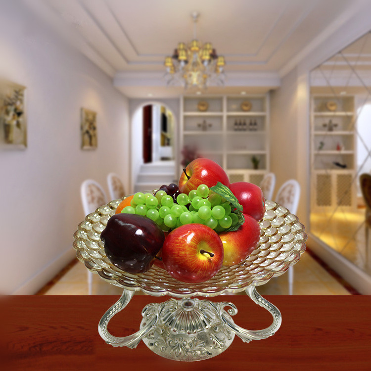 2017 wholesale new design high quality cheap decorative glass dry fruit tray