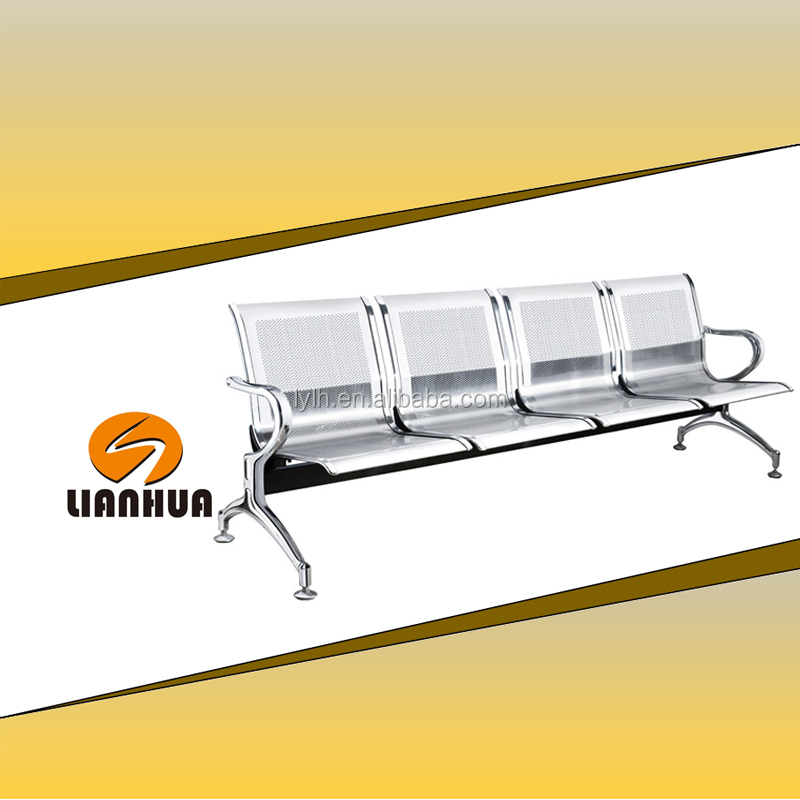 Priced quality steel 4-seater waiting chair for airport