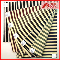 Professional production of stripe cloth factory cotton with TC stripe french terry knitted fabric