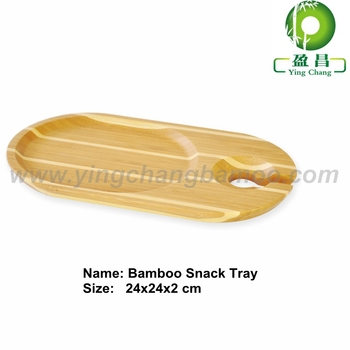 Bamboo cake food serving plate