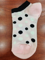 baby girls with polka-dot pattern socks