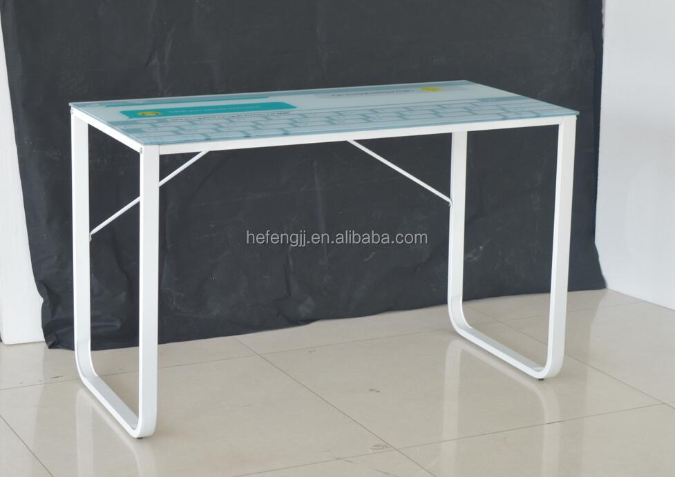 Different color tempered glass computer table