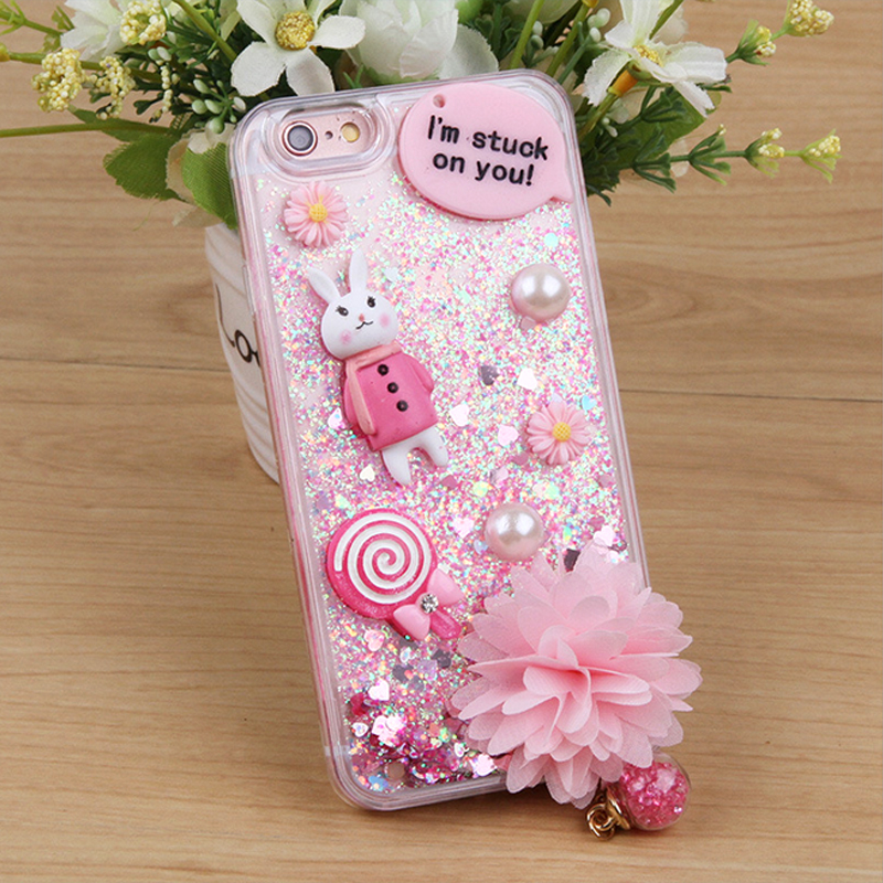 Kaweii snowman jewelry flower design phone Case for lenovo A820T vibe k5 plus soft tpu moving glitter quicksand back cover