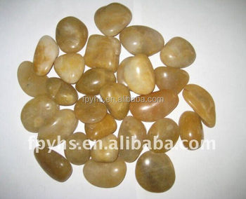 landscaping yellow pebble stone import