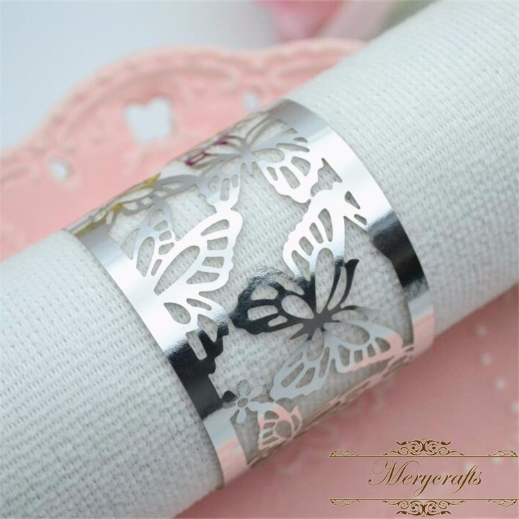 2018 Hot new design centerpieces filigree napkin rings for wedding