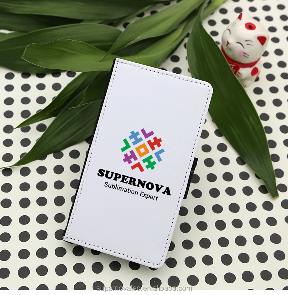 SUPERNOVA China Manufactory Sublimation PU Leather Phone Case, Blank Leather Wallet Phone Cover for S8