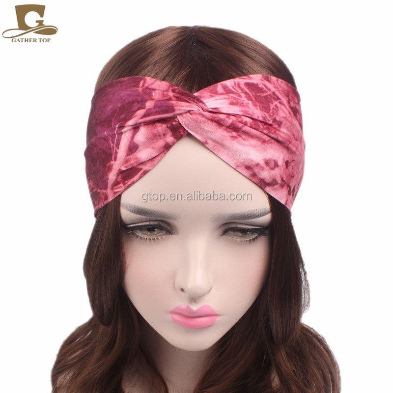 New bohemian Design Cotton twist Hair Band yoga sport <strong>Headband</strong> for Women GirlsTD-19