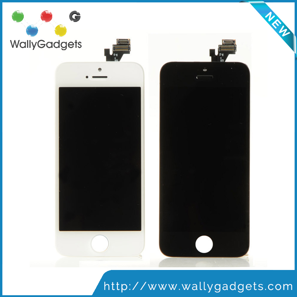 2016 New Arrival Wholesale price OEM touch screen replacement for iphone 5 original used lcd factory for mobile parts
