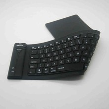 Mini wireless bluetooth silicon waterproof flexible keyboard