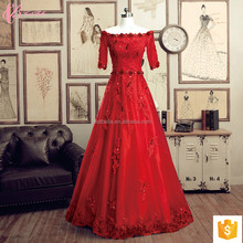 High End New Fashion Customize Red Dress Floor Length Fat Ladies Formal Evening Prom Dress 2017 Evening Gown