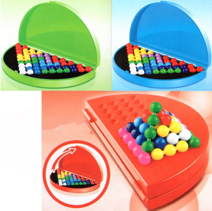 Hot Sale 180 Steps Plastic Wisdom Colorful Bead IQ Puzzle Educational Toys For Kids