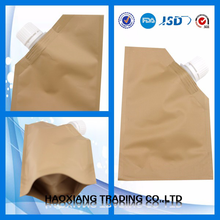 1kg standard plastic pp ad star cement bags with block bottom automatic filling spout valve and Kraft paper