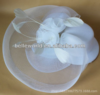 2014 Ladies Fascinators fashion White Church Hat