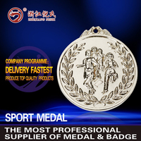 factory price custom sport medal,medals with ribbon,knowledge medals