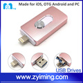 Zyiming new product 2016 factory wholesale 8gb/16gb otg pendrives promotional