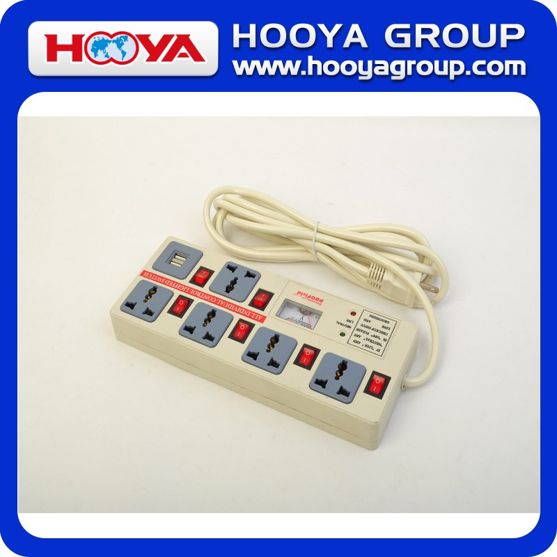 Good Quality 3m 6 Holes 6 Switch Socket with USB