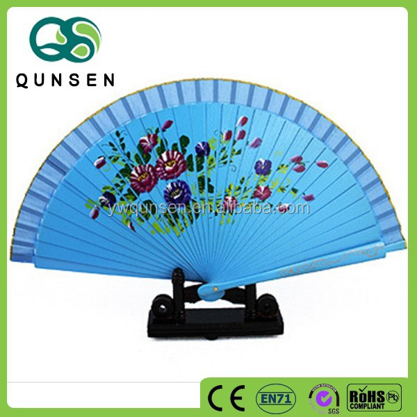 wholesale gifts personalized hand held 23cm folding hand fan frame