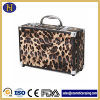 Reusable Aluminum Case with leopard leather