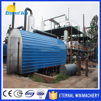 Plastic tire pyrolysis plant Plastic convert oil machines