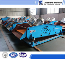 Crushed limestone vibrating dewatering screen