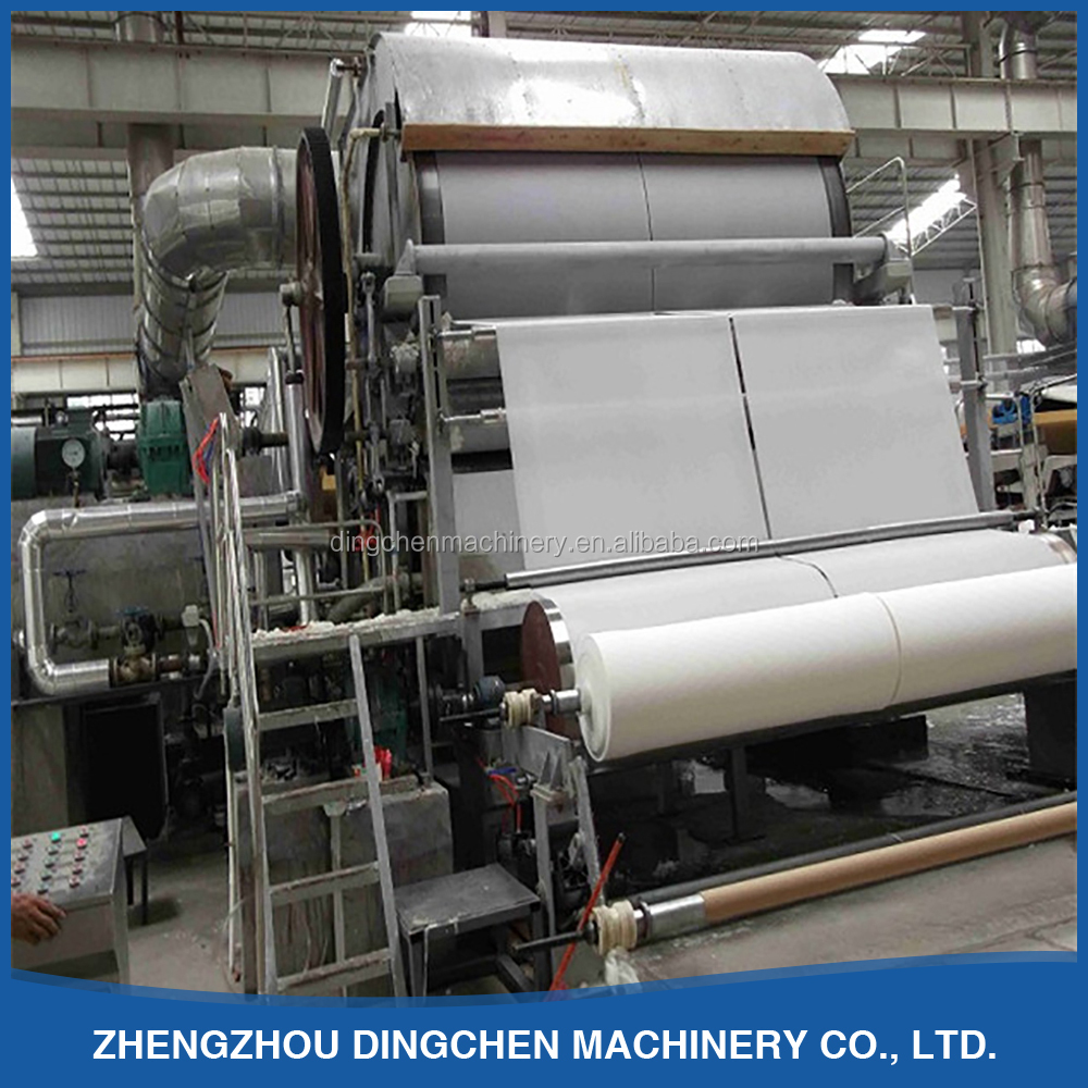 1880mm single cylinder and single wire toilet/tissue paper manufacturing plant