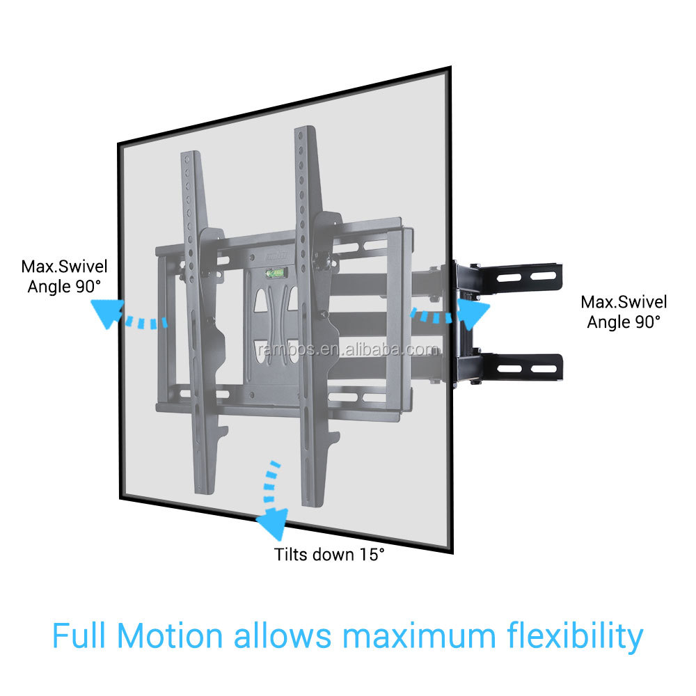2019 Factory Price Bed Mount Tv Sliding Adjustable Tilt Lcd Led Tv Wall Mount  For 32-65 Inch Screen