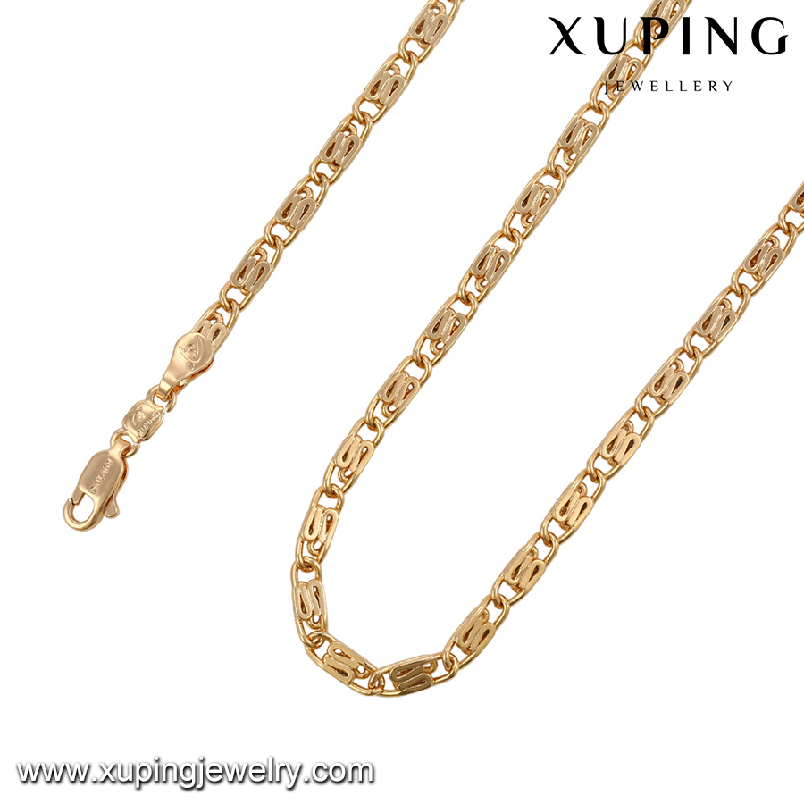 43043 XUPING 18k fake gold chains,necklace gold,10 to 15 gram gold necklace designs