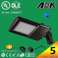 AOK-150WiT UL cUL DLC Approval High Power IP66 Used Parking Lot Light Poles