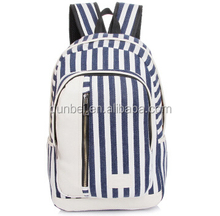 Trending hot products 2015 Korean striped school bag backpack for college students