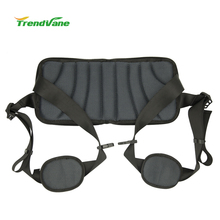 Chinese supplier Trendvane patent breathable super thin lower back lumbar support belt/brace makes every chair ergonomic