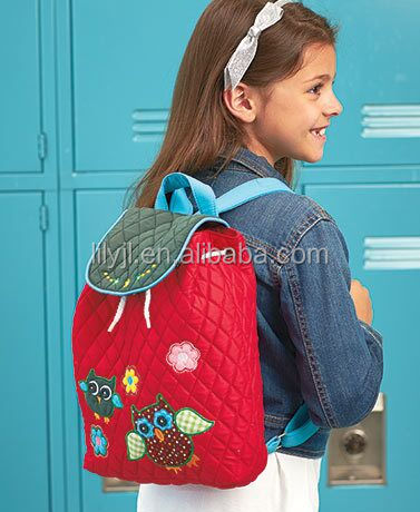 Personalized Quilted Backpack with Embroidered for girls kids