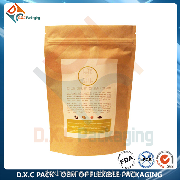 Whey Protein Powder Heat Seal Food Kraft Paper Bags FOOD GRADE!