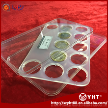 Chinese manufacturers direct PC Acrylic plastic coin protective storage case for 12 coins